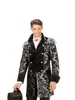 Silver Jacquard Parade Coat