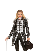 Silver Jacquard Parade Ladies Tailcoat