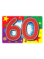 60 Glittered Sign