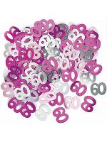 Birthday Glitz Pink - 60th Birthday Confetti