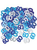Birthday Glitz Blue - 60th Birthday Confetti
