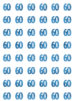 Birthday Glitz Blue - 60th Birthday Prism Hanging Decoration