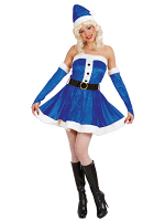 Miss Santa Costume - Blue