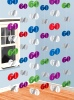 60th Hanging String Decorations Pack of 6