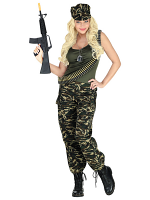 Soldier Lady (Tank Top, Pants, Cap)