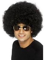 70s Funky Curly Afro Wig ,Black