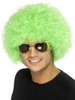 70s Funky Curly Afro Wig, Green