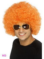 70s Funky Curly Afro Wig, Orange