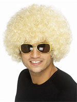 70s Funky Curly Afro Wig, Yellow