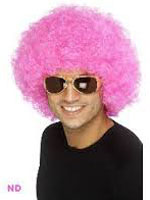 70s Funky Curly Afro Wig, Pink