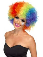 70s Funky Curly Afro Wig, Rainbow