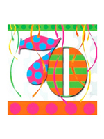 70th Birthday Balloon Bright Party Napkins