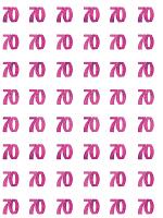 Birthday Glitz Pink - 70th Birthday Prism Hanging Decoration