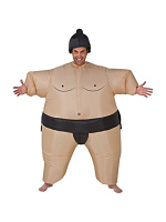 Sumo Wrestler Costume, Inflatable Bodysuit With Headpiece