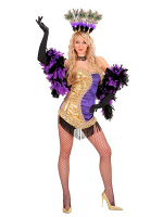 GOLD/PURPLE VEGAS SHOWGIRL (DRESS HEADPIECE)