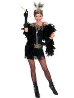1920S FLAPPER - BLACK (DRESS HEADPIECE)