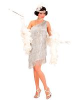 SILVER FLAPPER (DRESS CHOKER HEADBAND)