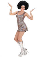 HOLOGRAPHIC 70S DISCO DIVA (DRESS)