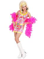 70S MOD GIRL (PINK/ORANGE/GREEN) (DRESS BELT HEADBAND)