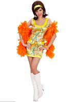 70S MOD CHICK (GREEN/PINK/ORANGE) (DRESS HEADBAND)