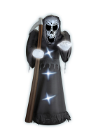 LIGHT-UP INFLATABLE GRIM REAPER 244 cm - indoor & outdoor us