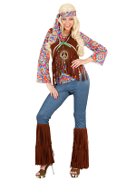 PSYCHEDELIC HIPPIE WOMAN (TOP W/VEST PANTS BAND NECKLACE