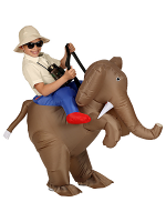 Explorer On Elephant (Air blown Inflatable Costume with Hat)