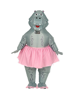 Hippo Ballerina(Airblown Inflatable Oversized Costumew/Mask)