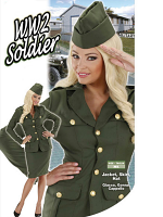 WW2 SOLDIER GIRL (JACKET SKIRT HAT)