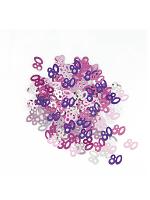Birthday Glitz Pink - 80th Birthday Confetti