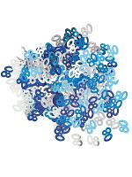 Birthday Glitz Blue - 80th Birthday Confetti