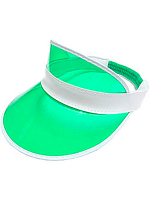 Clear Green Plastic Dealer's Visor