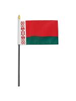 "Belarus medium hand flag 9"" x 6"""