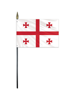 "Georgia medium hand flag 9"" x 6"""