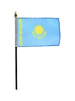 "Kazakhstan hand flag 9"" x 6"""