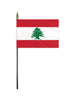 "Lebanon medium hand flag 9"" x 6"""