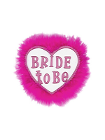 Bride To Be Badge - White