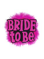 Bride To Be Badge - Black