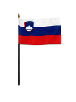 Slovenia medium hand flag 9″ x 6″