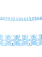 Azure Teddy Bear Garland 3 M