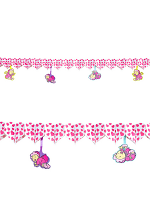 Printed Pink Hearts Garland With Babies