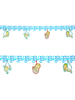 Printed Azure Hearts Garland With Babies 3 M