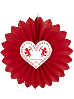 St. Valentine's Day Paper Fan