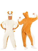 Plush Bulldog (Hooded Jumpsuit With Mask)