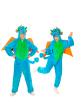 Plush Dragon (Hooded Jumpsuit With Mask)
