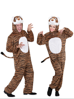 Plush Funny Tiger (Hooded Jumpsuit With Mask)