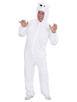 Plush Polar Bear (Hooded Jumpsuit With Mask)