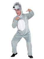 Plush Wolf (Hooded Jumpsuit With Mask)