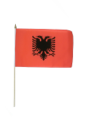 Albania Hand Waving Flag