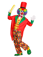 Clown Costume (Tailcoat Vest Bow Tie Pants Hat)